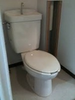 Lavatory and toilet in Japan.